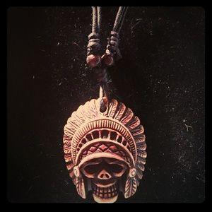 BoneYak/Resin IndianTotem Talisman/Amulet Necklace